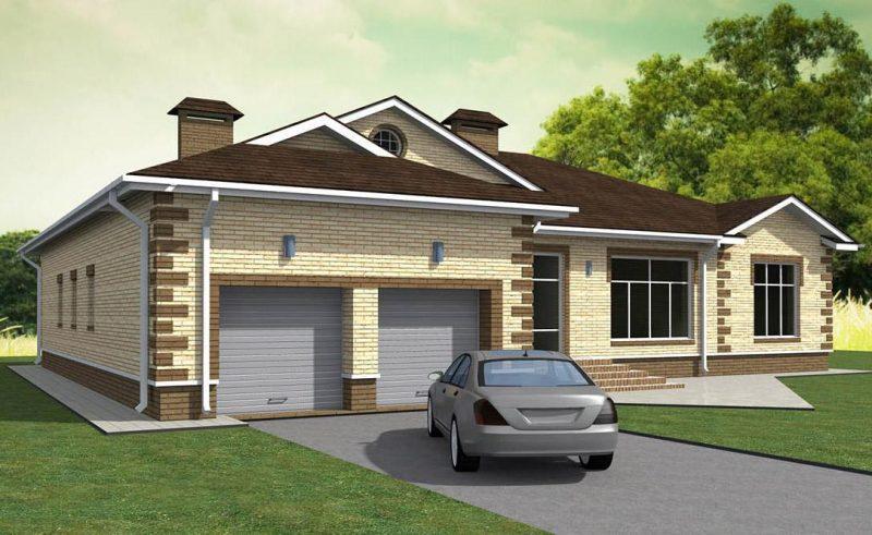 дом два гаража