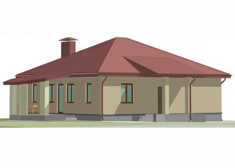 Типовой проект дома до 100 кв м