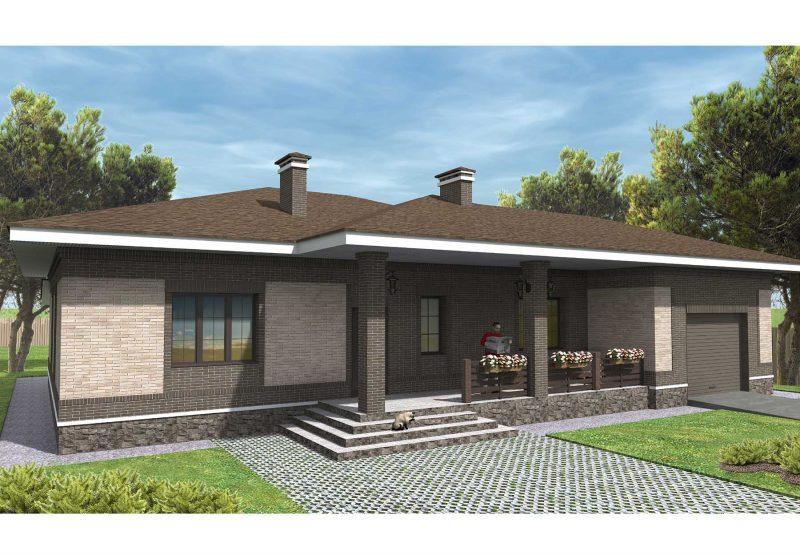 Проект дома 11 на 19 площадью 180 кв.м.