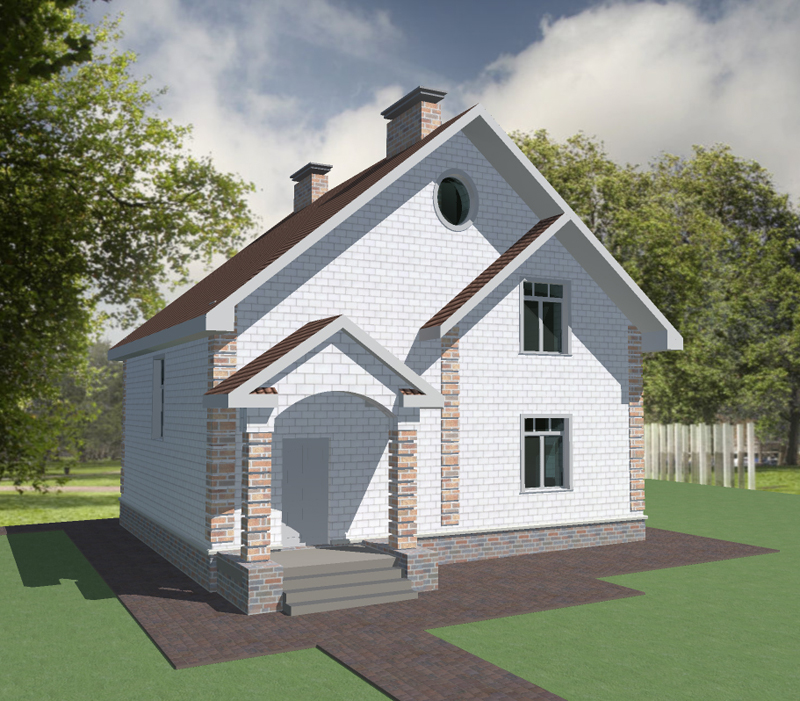 Проект дома с двумя спальнями и детской