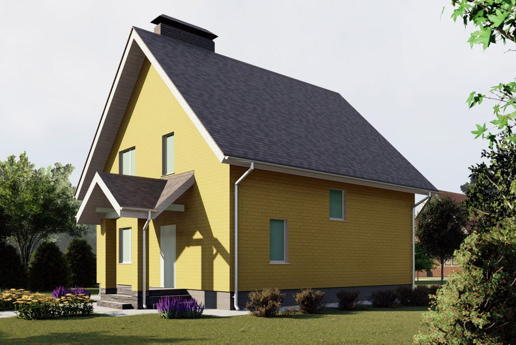 Проект сельского домика 8 на 8 метров