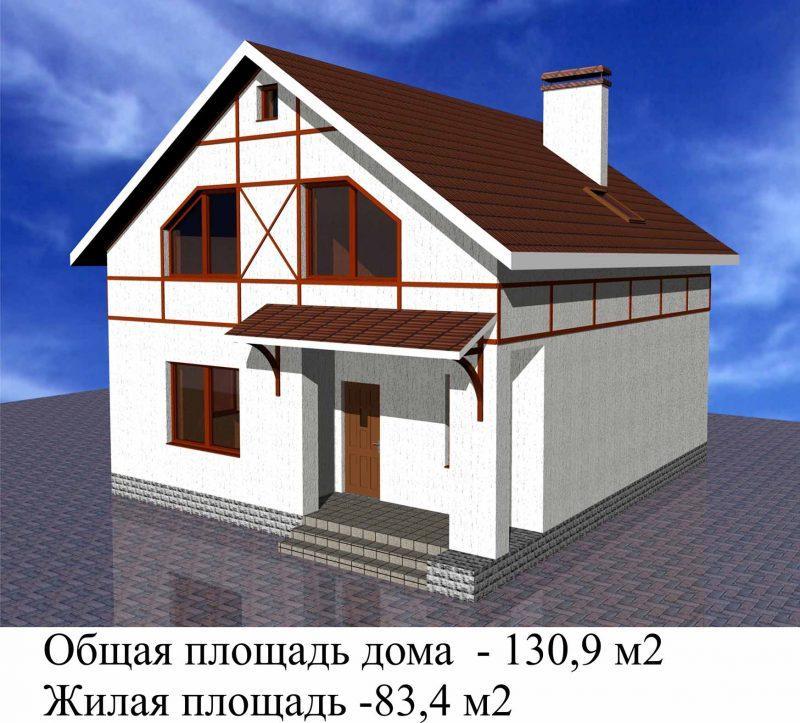 Проект маленького дома для постоянного проживания