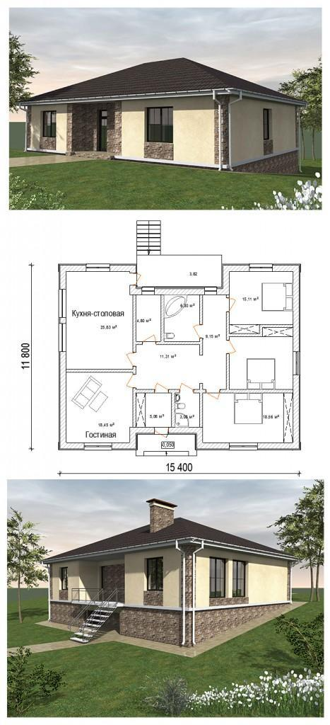 Проект дома на уклоне