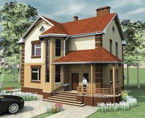 """Проект дома """"Семейный"""" 160 м2 в два этажа"""