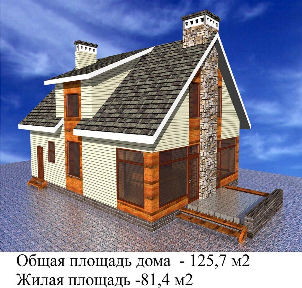 Проект дома с витражными окнами