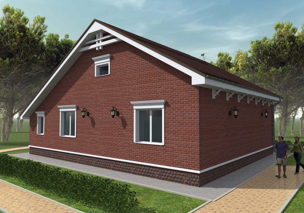 Проект компактного дома до 100 кв.м.