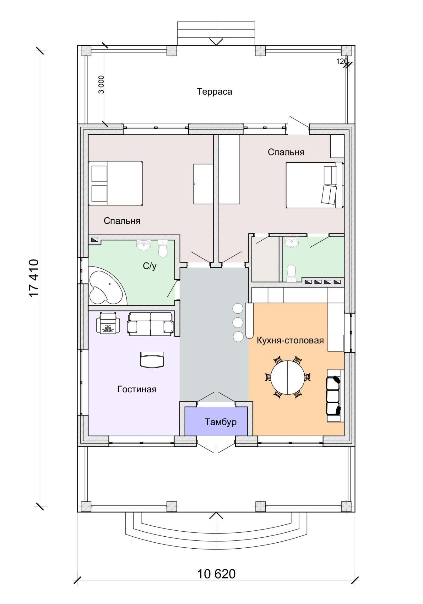 Проект экономичного дома в стиле шале