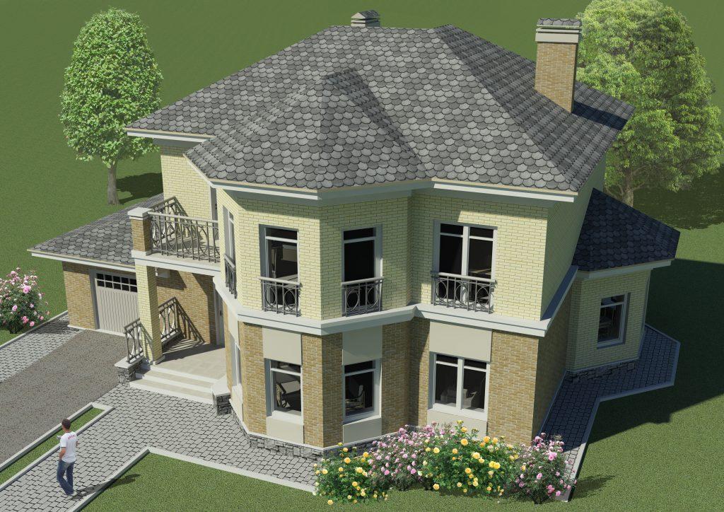 Проект двухэтажного дома до 200 кв.м. с гаражом