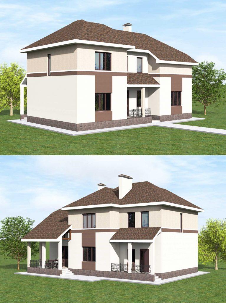 Проект дома с мансардой до 200 кв.м.