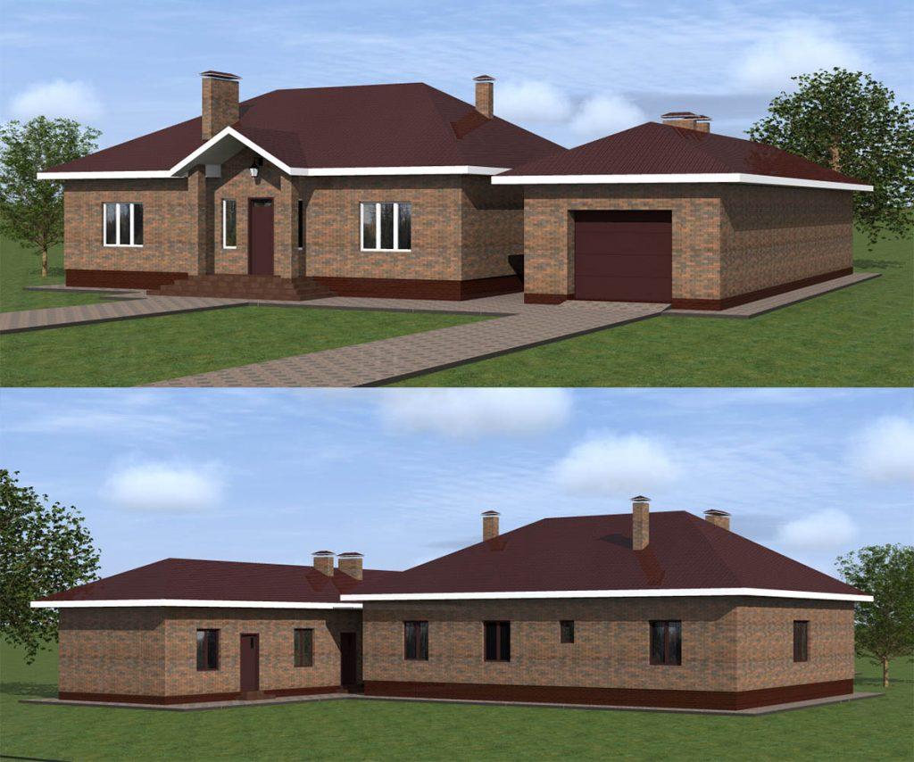 Проект простого одноэтажного дома