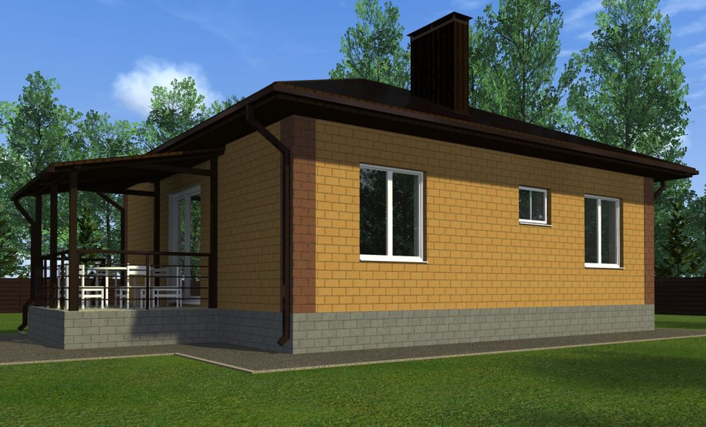 Проект жилого дома 9х8 метров Эконом