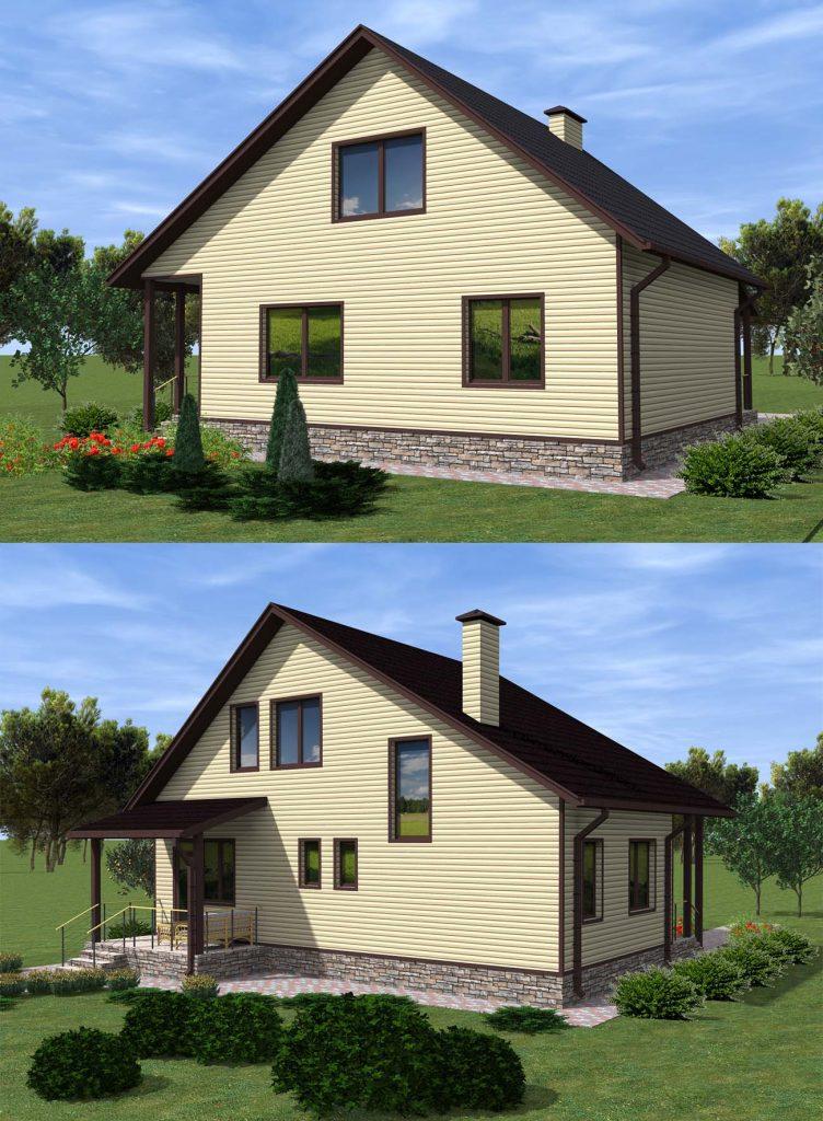 Проект дома с мансардой до 150 кв.м.