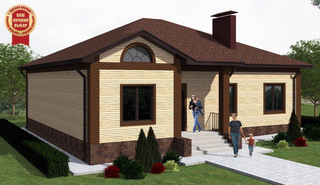 План кирпичного одноэтажного дома до 150 м2