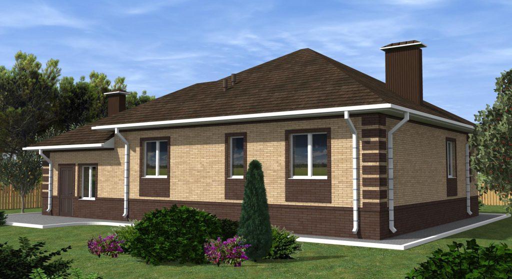Проект дома 16 на 11 одноэтажного с гаражом