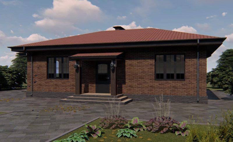 """Проект небольшого дома с гостиной и двумя спальнями """"Саларьево"""""""