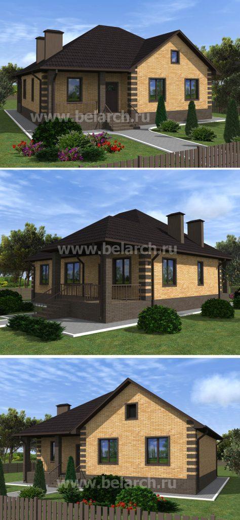 проект уютного дома с чердаком
