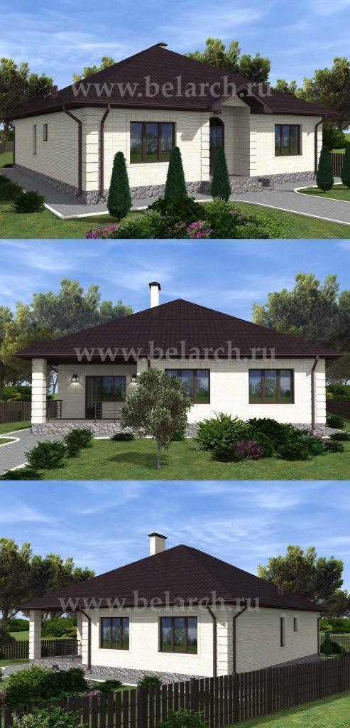 Проект одноэтажного дома 13 на 12