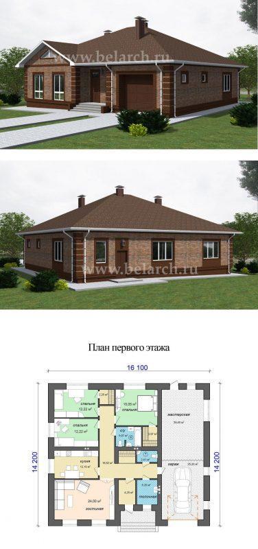 Проект дома баварская кладка