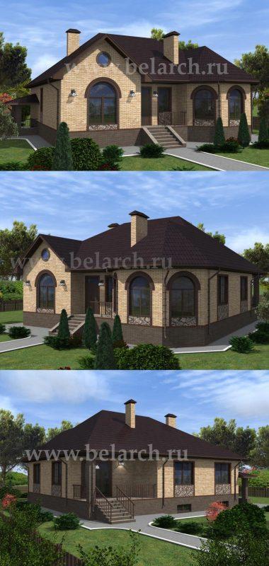 Проект дома с арочными окнами