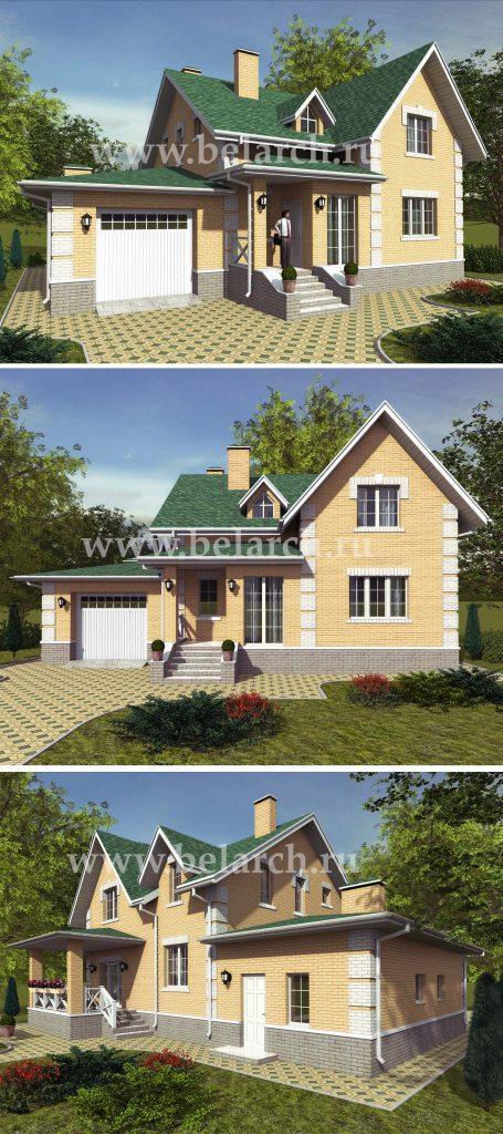 Проект дома с большой кухней