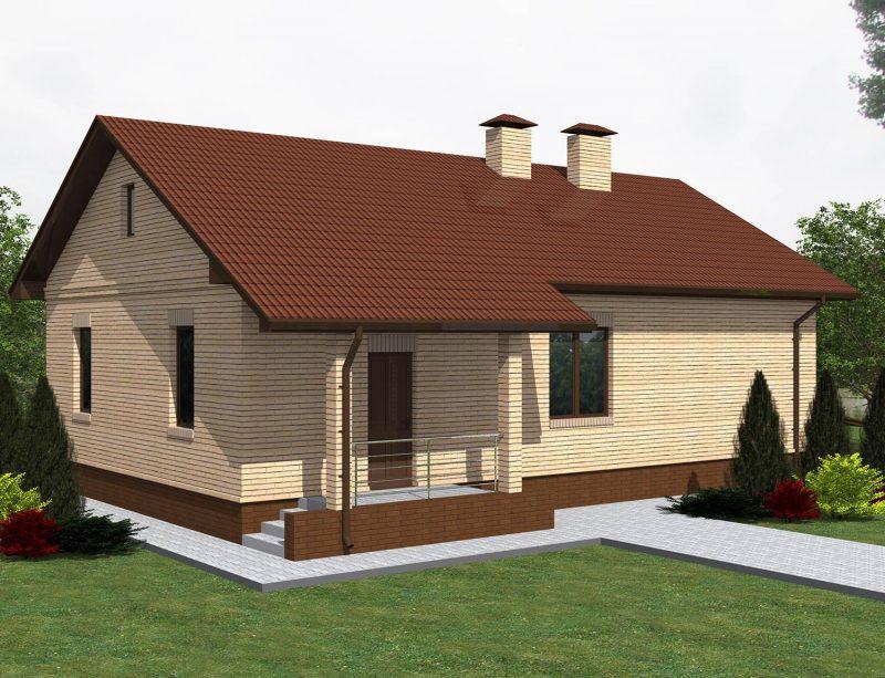 Проект маленького дома до 80 кв.м.