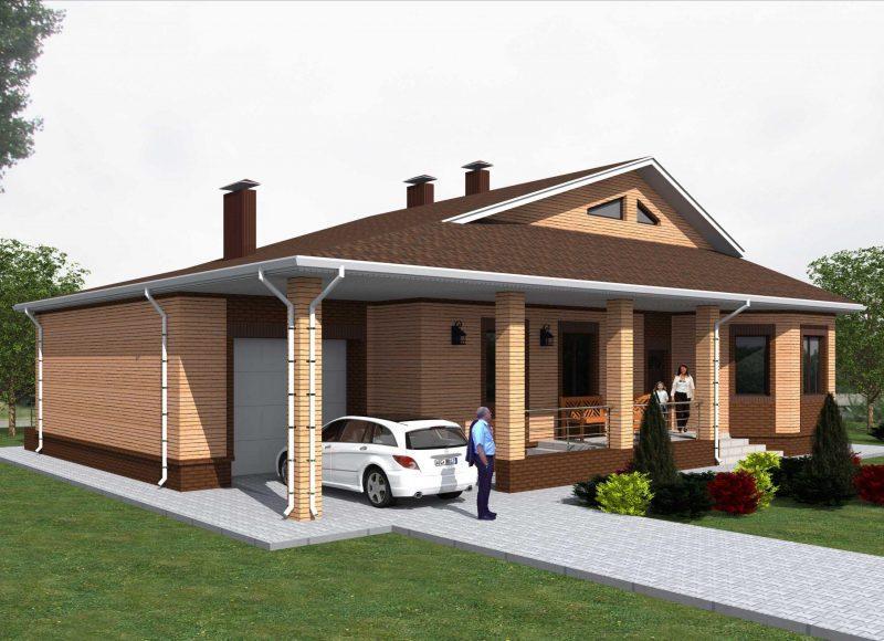 """Проект дома """"Оптимальный"""" -площадью не более 150 кв.м."""