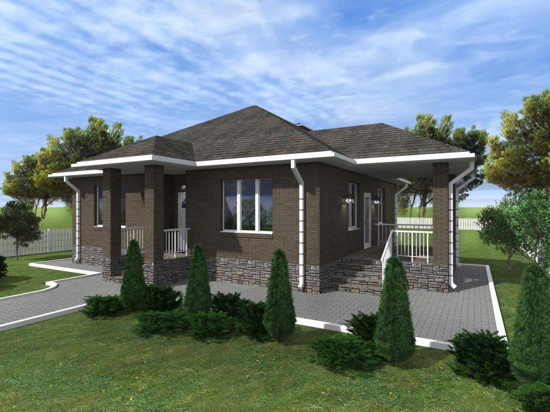 Проект дома с двумя спальнями до 100 кв.м.