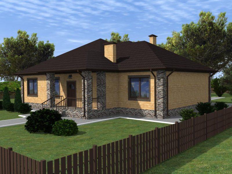 Готовый проект дома с четырьмя спальнями 180 м2