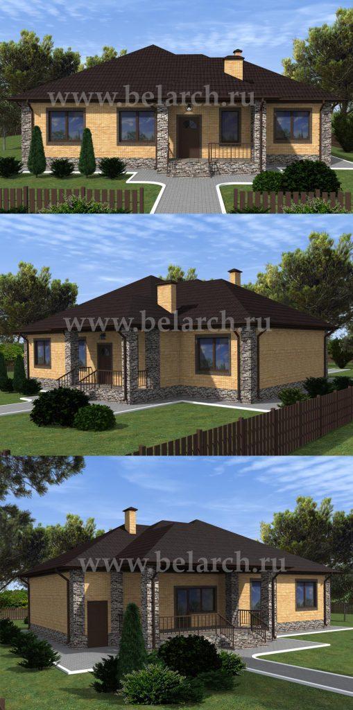 Проект дома с четырьмя спальнями
