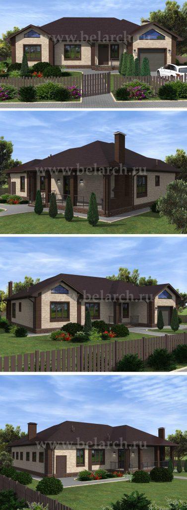 Проект большого жилого дома с гаражом