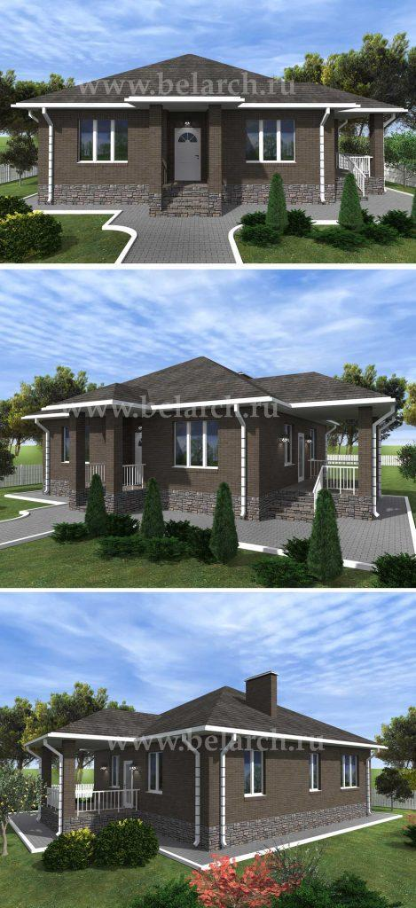 Проект одноэтажного дома до 100 кв.м.