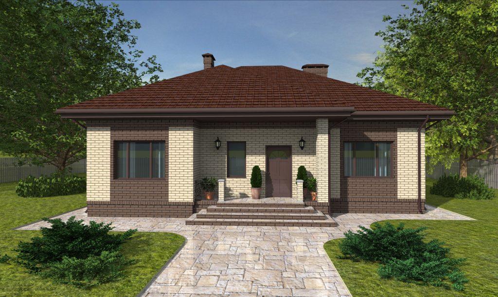Проект дома с двумя спальнями 12 на 13