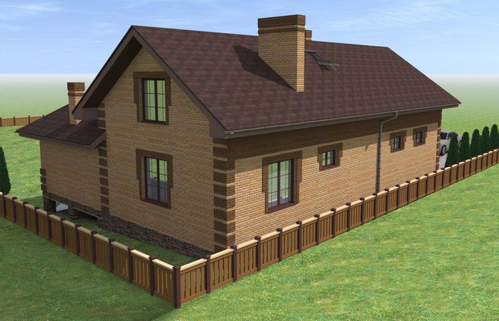 проект дома для вытянутого участка