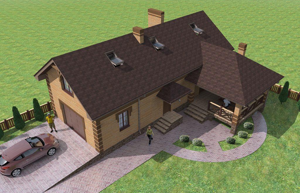 Проект узкого дома для вытянутого участка