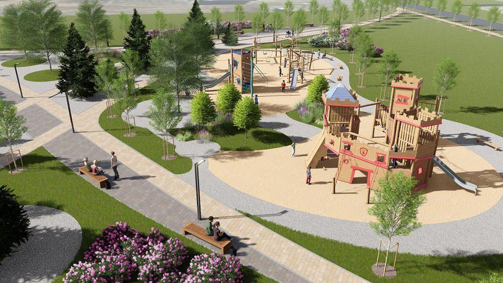 Проект детского городка в городском парке