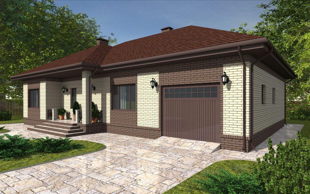 Проект одноэтажного прямоугольного дома до 160 кв.м.