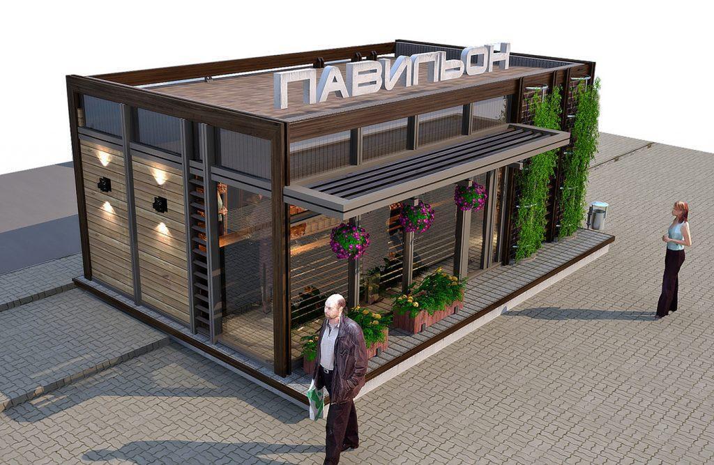 Проект павильона-магазина шаговой доступности