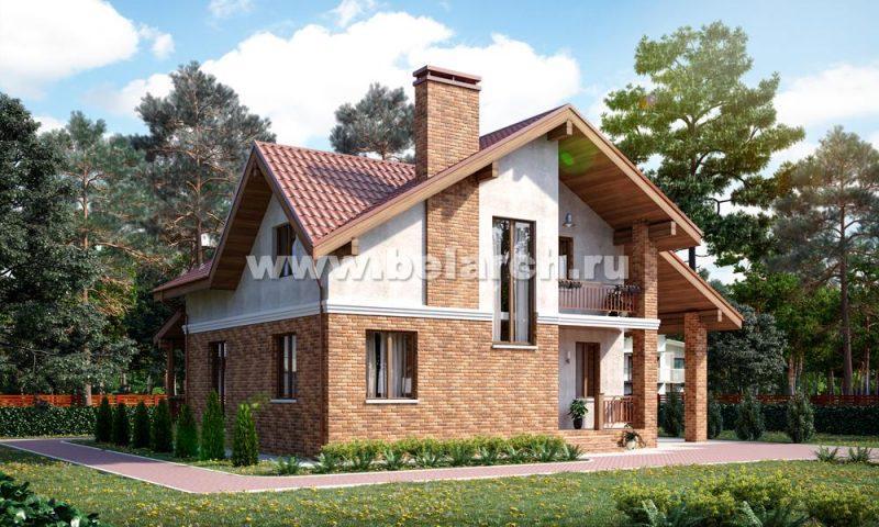 Проект небольшого дома с мансардой 10 на 11