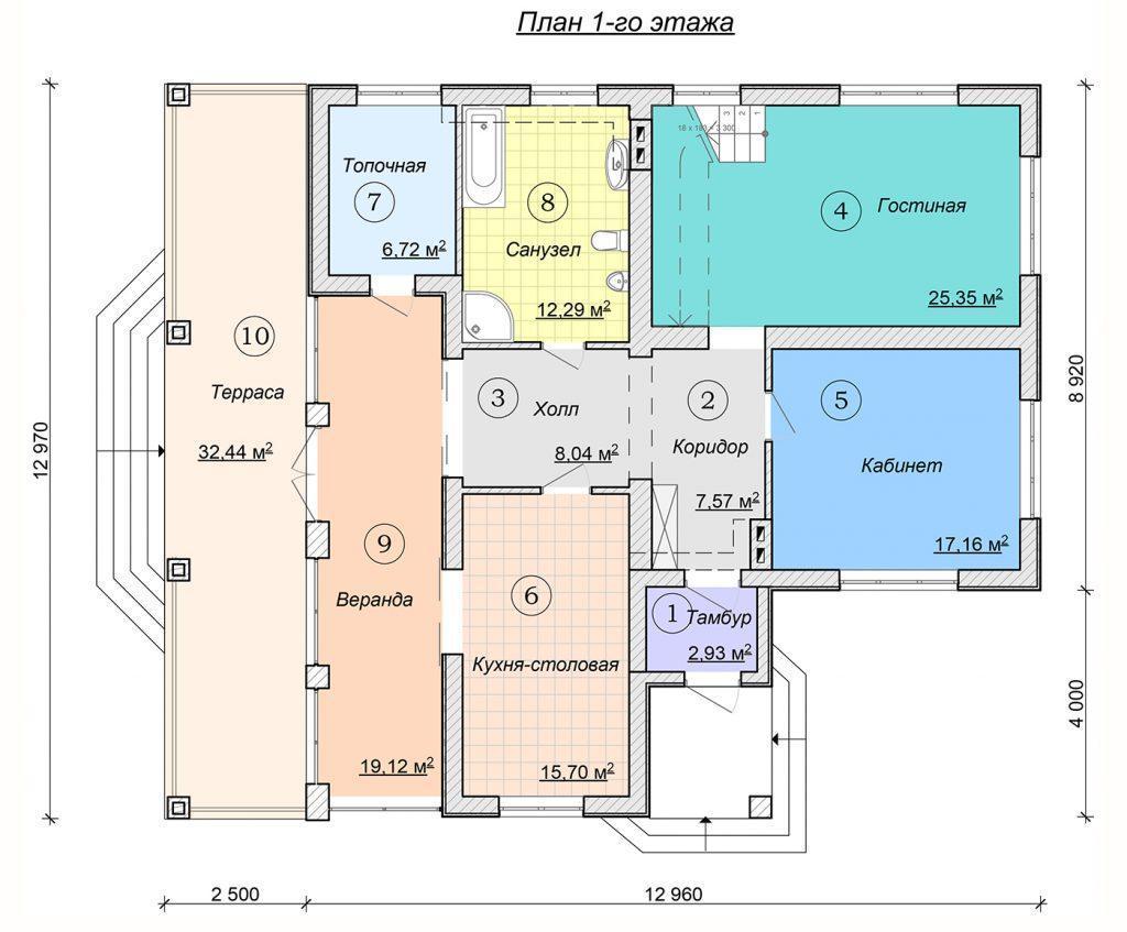 Проект дома с мансардой в немецком стиле