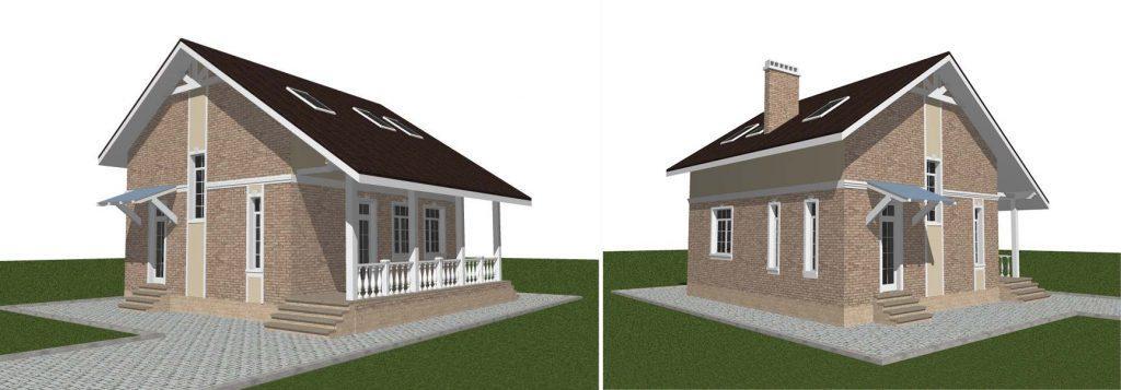 Проект дома с мансардой и подвалом