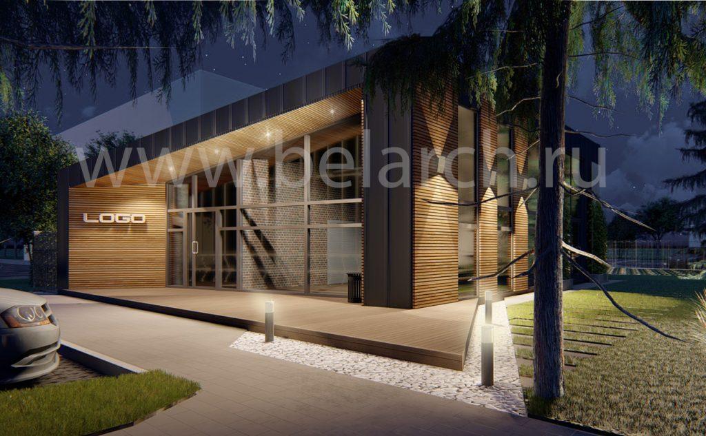 Проект современного Офисного здания до 100 кв.м.