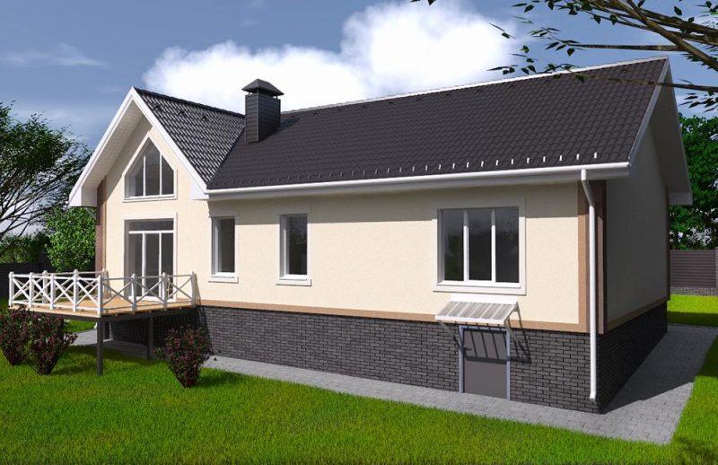 Проект одноэтажного дома с высоким потолком