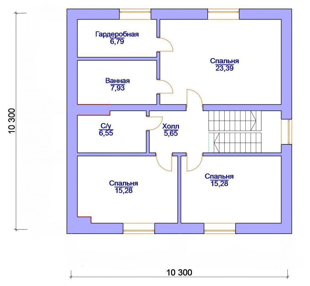 Проект кирпичного дома 10 на 12 с мансардой