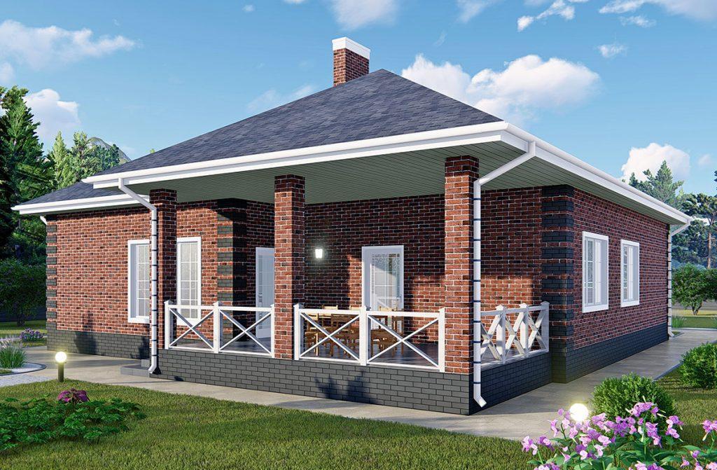 """Проект дома с тремя спальнями, гаражом и гостиной - """"Новая жизнь"""""""
