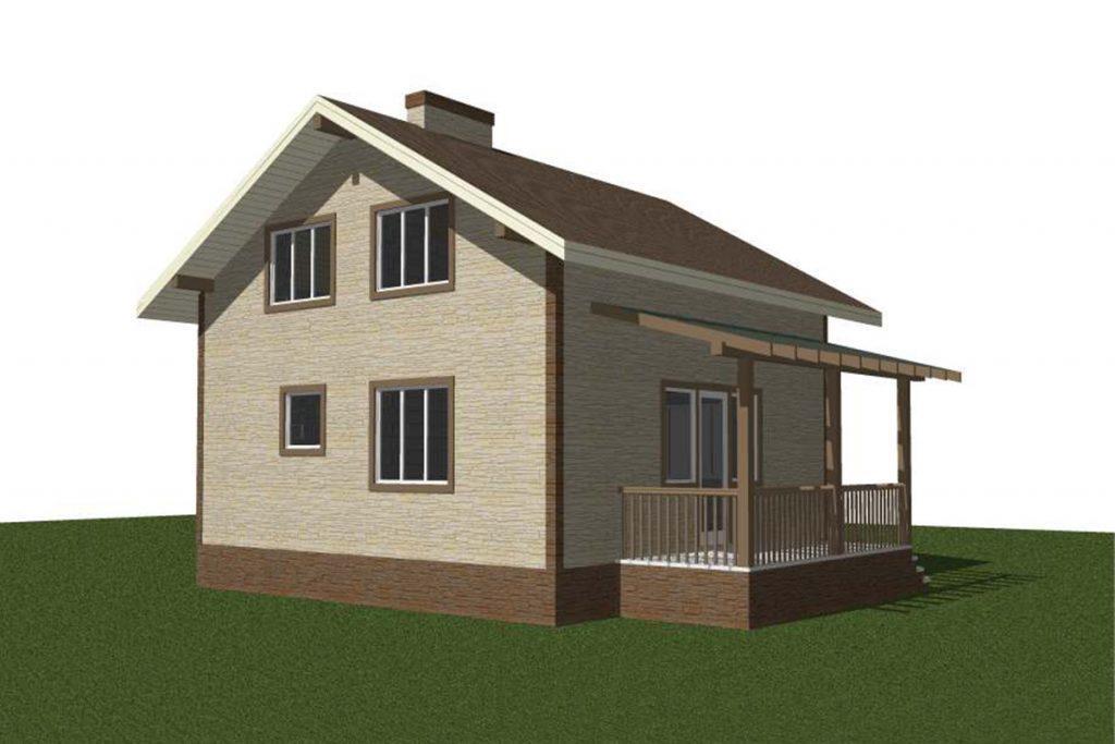 Проект дома с мансардой 9 на 7 метров
