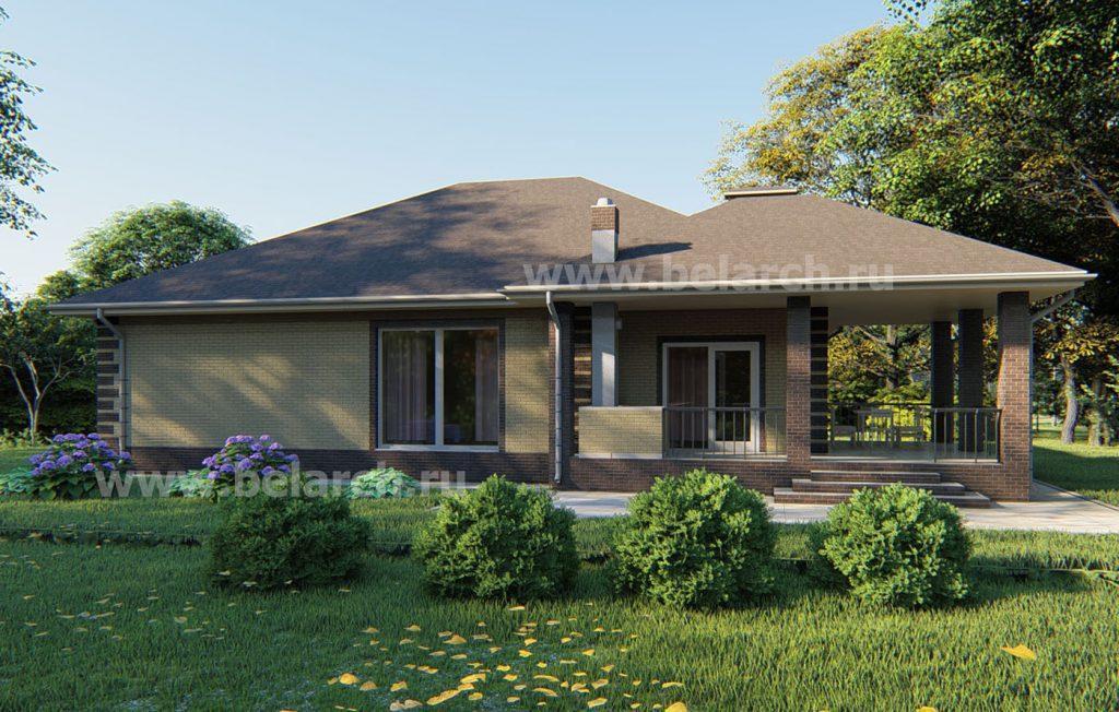 Проект удачного одноэтажного дома