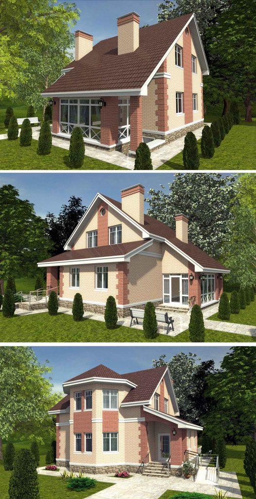 Проект небольшого жилого дома с мансардой и подвалом