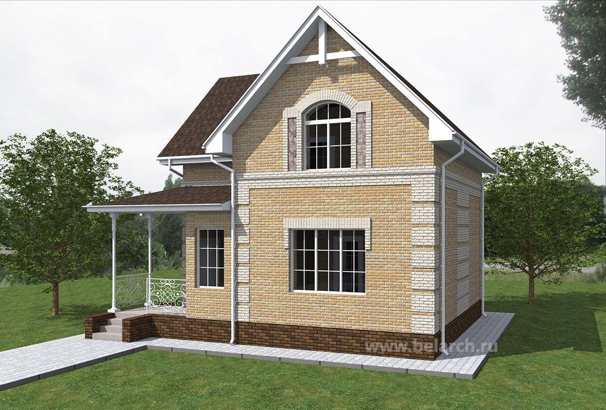 Проект трехкомнатного дома 8 на 8