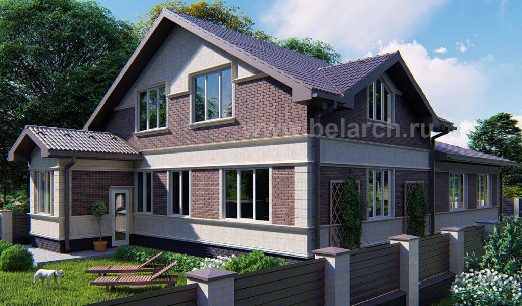 Проект дома с мансардой из газосиликатного блока