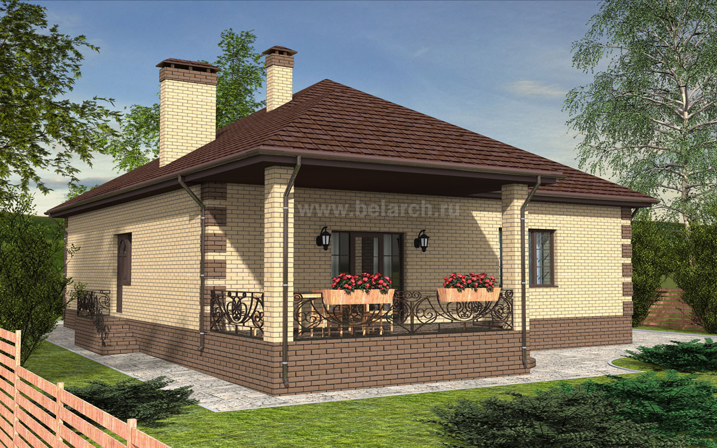 Проект небольшого одноэтажного дома - материнский капитал